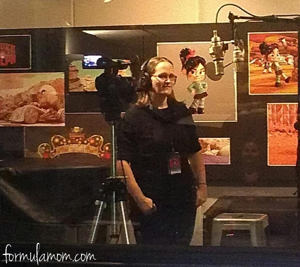 In the Recording Studio! #WreckItRalph #DisneyMoviesEvent