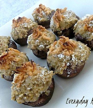 Green Bean Casserole Recipe: Stuffed Mushrooms #Thanksgiving