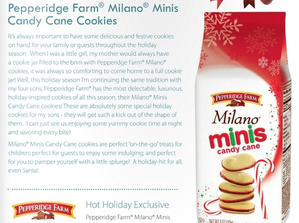 Milano Minis Candy Cane #HolidayGuide