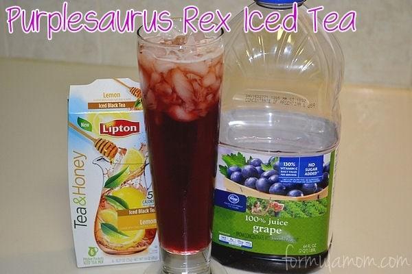 Family Tea Time with Lipton Tea & Honey Pitcher Packets Purplesaurus Rex Iced Tea #FamilyTeaTime