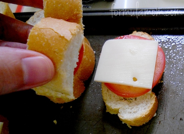 Oven Baked Mini Grilled Cheese Sandwich Recipe