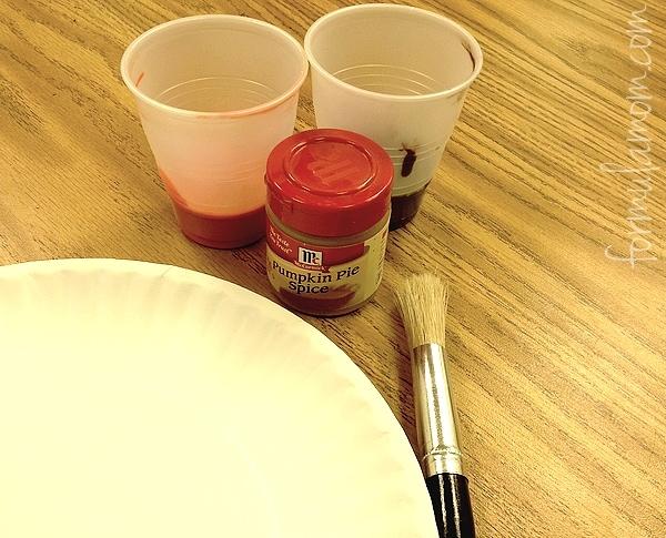 Paper Plate Crafts: Pumpkin Pie Supplies