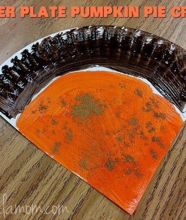 Paper Plate Crafts: Pumpkin Pie