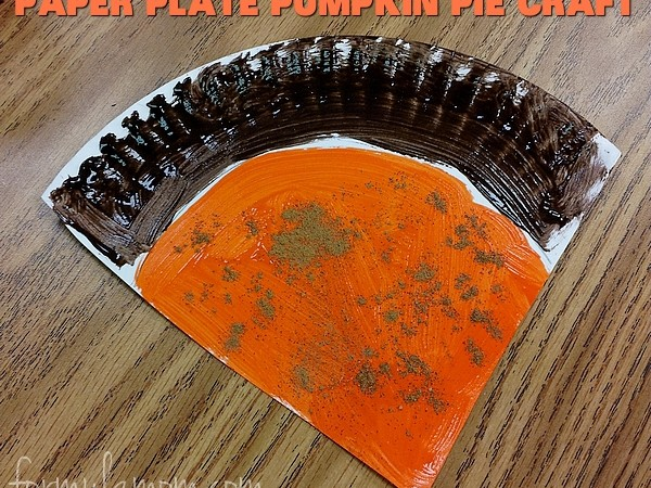 Paper Plate Crafts: Thanksgiving Pumpkin Pie