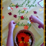 Thanksgiving Crafts: Contact Paper Fun