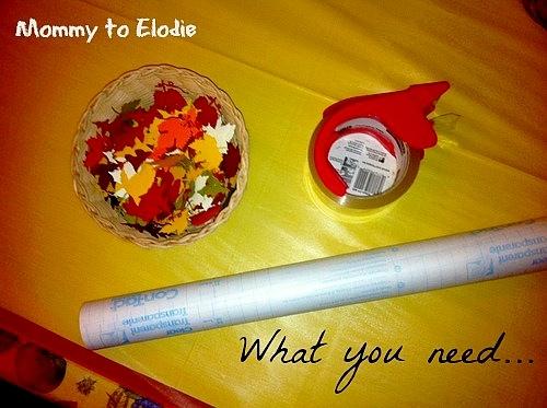 Thanksgiving Craft: Contact Paper Fun Supplies