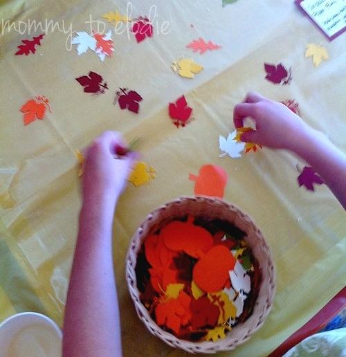 Thanksgiving Craft: Kids Contact Paper Fun