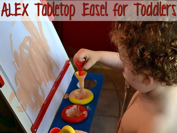 ALEX Toys Tabletop Easel Makes Art Easy for Toddlers