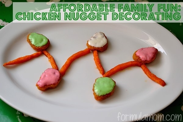 Decorating Holiday Chicken Nuggets #MealsTogether #Cbias