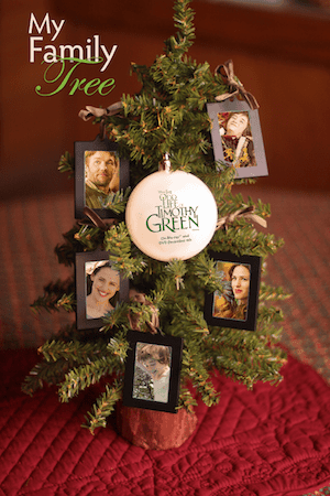 Easy Holiday Tree Idea from The Odd Life of Timothy Green