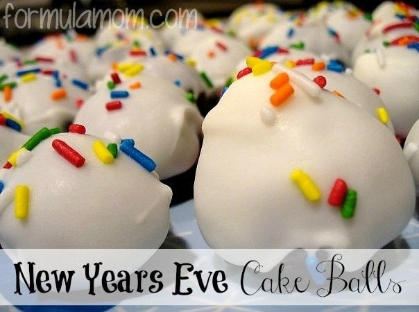New Year's Eve Cake Balls Recipe