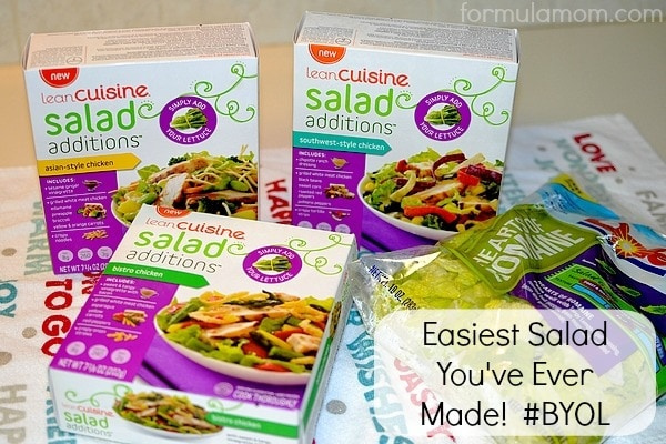 Easiest Salad Recipe with Salad Additions from Lean Cuisine #BYOL #Cbias