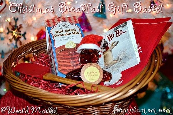 Christmas Breakfast Gift Basket #WorldMarket_Joy