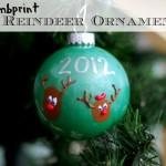 Thumbprint Reindeer Holiday Ornaments