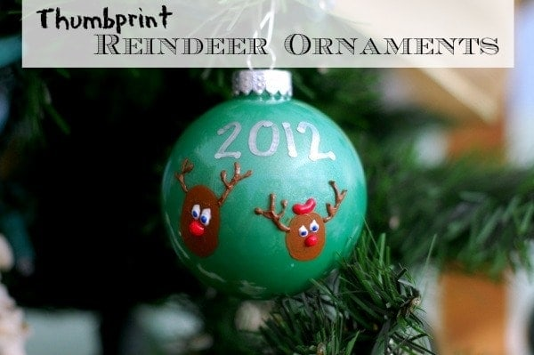 Thumbprint Reindeer Holiday Ornaments