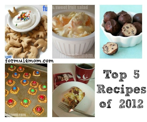 Top 5 Family Recipes of 2012