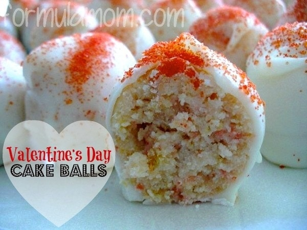 Valentine's Day Cake Balls Recipe #ValentinesDay