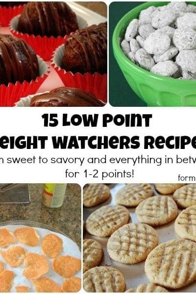 15 Low Point Weight Watchers Recipes #weightwatchers