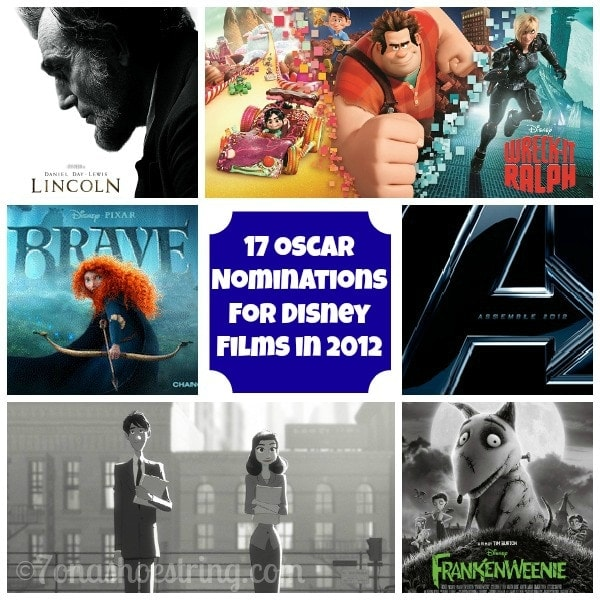 Disney Films Earn 17 Oscar Nominations