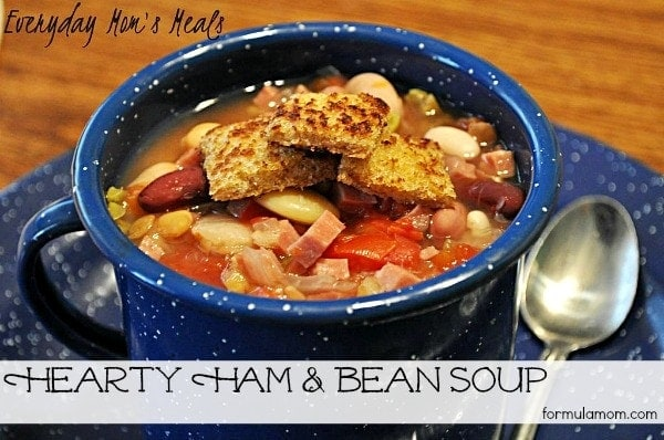 Hearty Ham and Bean Soup #recipe #soup