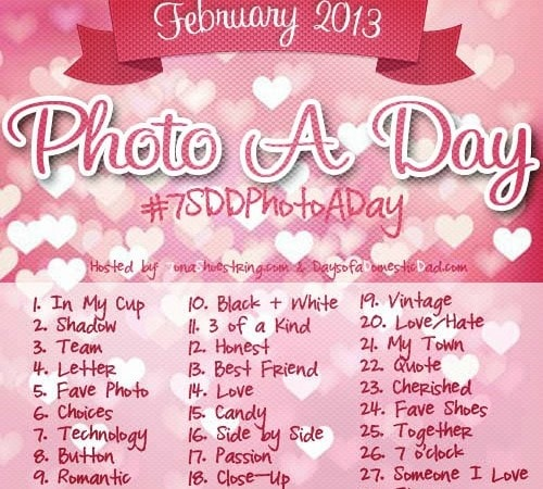February Photo a Day Challenge #7SDDPhotoADay