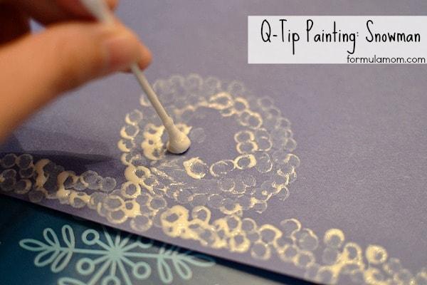 Q-Tip Painting #craft Snowman