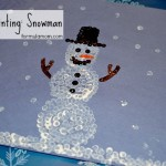 Q-tip Painting: Snowman Craft