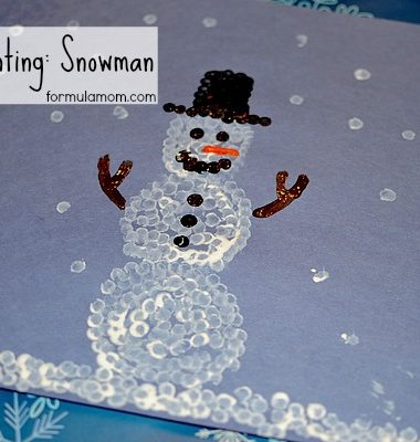 Q-tip Painting: Snowman #craft