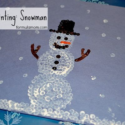 Q-tip Painting: Snowman #craft