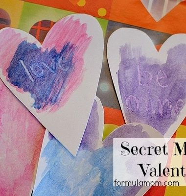 DIY Valentines: Secret Message Valentines #valentines #crafts