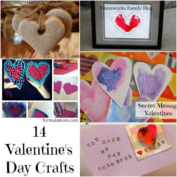 14 Valentines Day Crafts #valentines #crafts