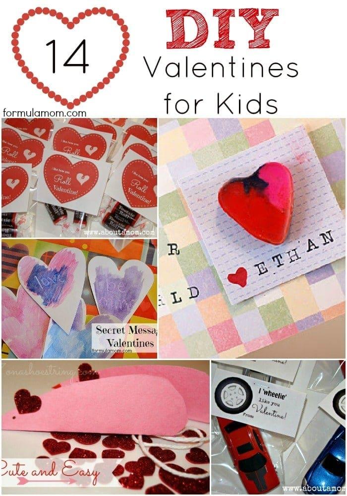 14 DIY Valentines for Kids #valentinesday #crafts