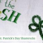 St Patrick Day Crafts: Easy Pipe Cleaner Shamrocks #stpatricksday