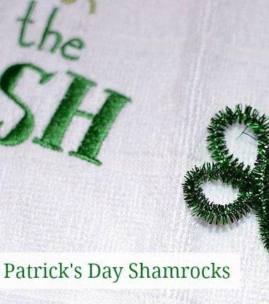 Easy St Patrick Day Craft Shamrock #stpatricksday