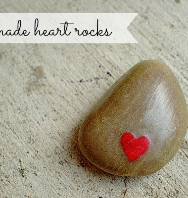DIY Valentines: Heart Rocks #valentinesday