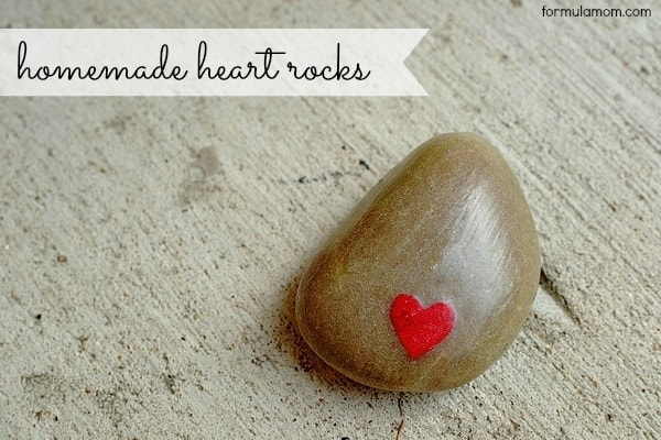 DIY Valentines: Heart Rocks #valentinesday