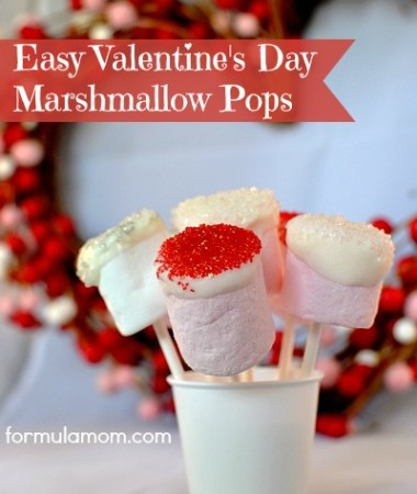 Valentine's Day Marshmallow Pops #valentinesday