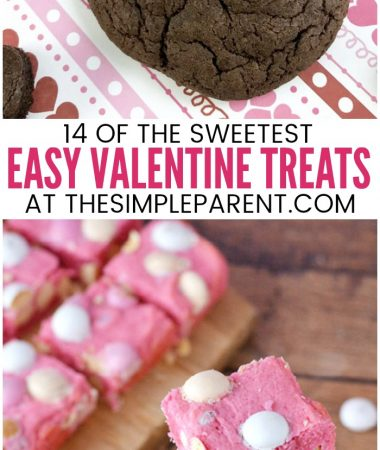 Easy Valentine Treats for Kids - These dessert recipes and ideas are great for adults, for kids, and even for school parties! Have fun baking with your kids and your friends. Try #6 for something absolutely delicious!