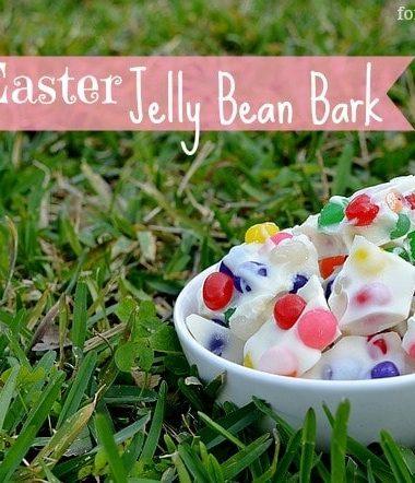 Easter Recipe: Easter Jelly Bean Bark #easter