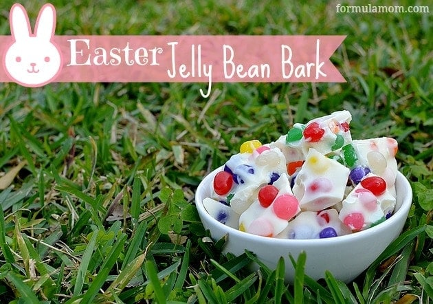 Easter Recipe: Easter Jelly Bean Bark #easter
