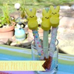 Easter Treats: Peeps Pretzel Pops #easter