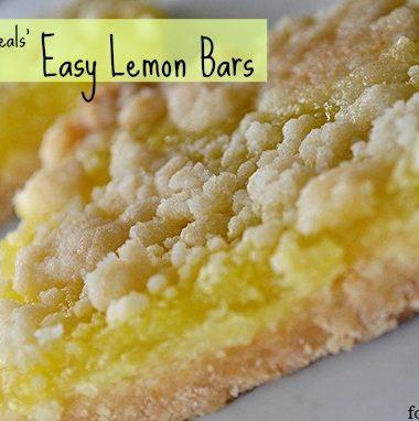 Easy Lemon Bars #recipe