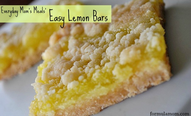 Easy Lemon Squares Using Cake Mix