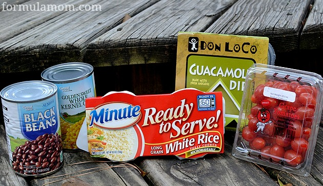 Guacamole Mexican Rice Ingredients #LoveEveryMinute