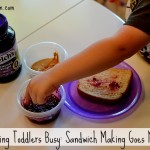 Keeping Toddlers Busy: Making Peanut Butter & Jelly Messy #PB&Jyourway