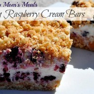 Frozen Raspberry Cream Bars