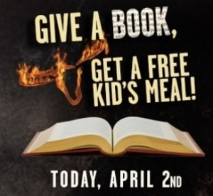 Longhorn Steakhouse: Give a Book & Get a Meal!