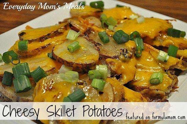 Skillet Cheesy Potatoes ~ Formula Mom | Texas Blogger