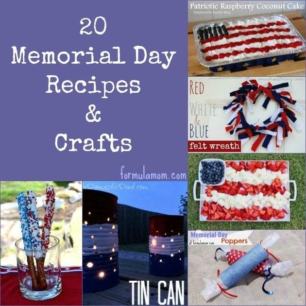20 Memorial Day Recipes and Crafts #MemorialDay