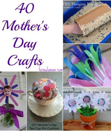 40 Mothers Day Crafts #mothersday